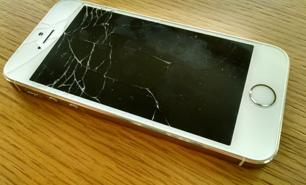 割れたiPhone5s
