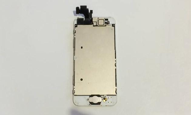 むき出しのiPhone