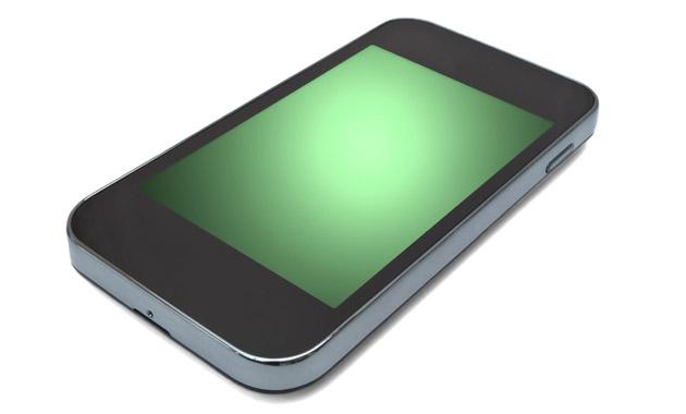 何も表示されないスマートフォン